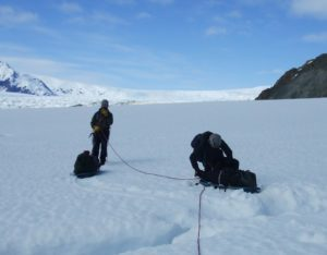 Crossing the patagonian ice cap