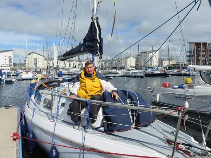 Ann on her yacht