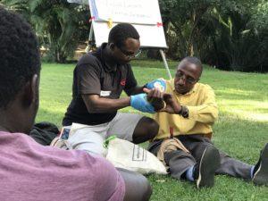 Bandaging injuries in Kenya