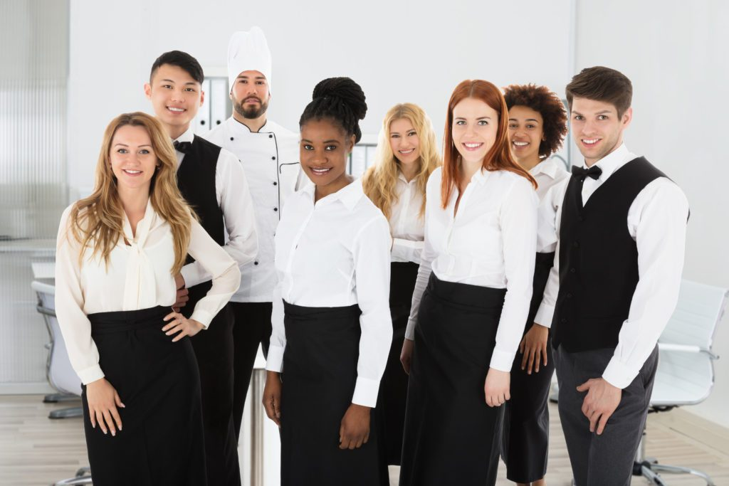 Hotel Staff, Many different jobs in one building