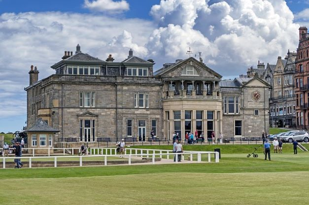 St Andrews Old Course golf club house